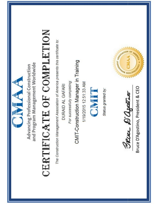 CMIT Certificate
