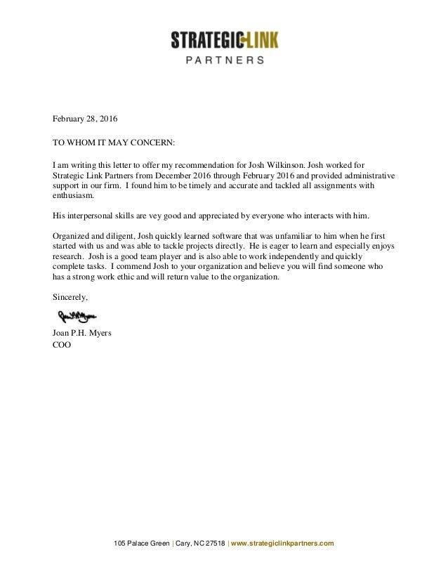 slp letter of recommendation
