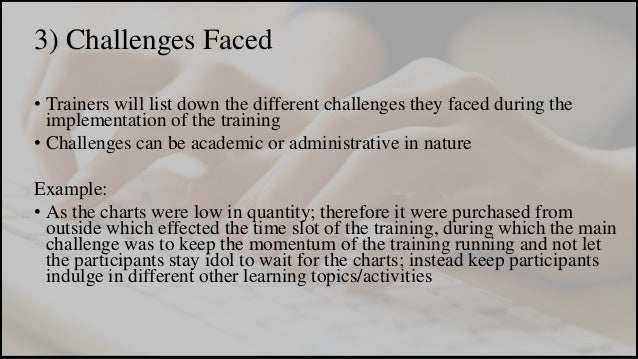 challenges in writing report