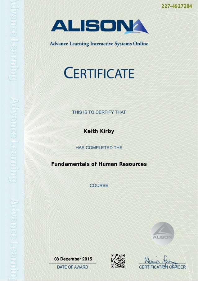 227-4927284 Keith Kirby Fundamentals of Human Resources 08 December 2015 Powered by TCPDF (www.tcpdf.org)