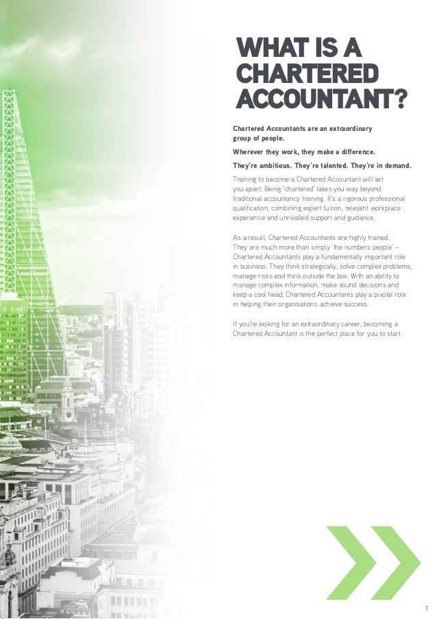 My dream to become A Chartered Accountant