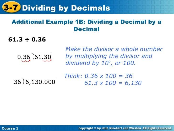 Division By Decimals - Laptuoso