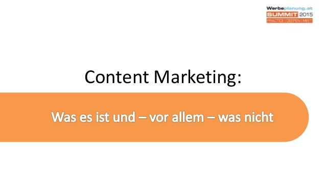 Content Marketing: