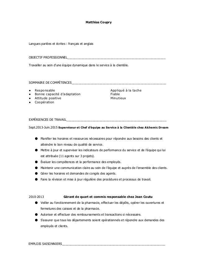 MatthiasCoupry    Languesparléesetécrites:françaisetanglais   OBJECTIFPROFESSIONNEL_______________________...