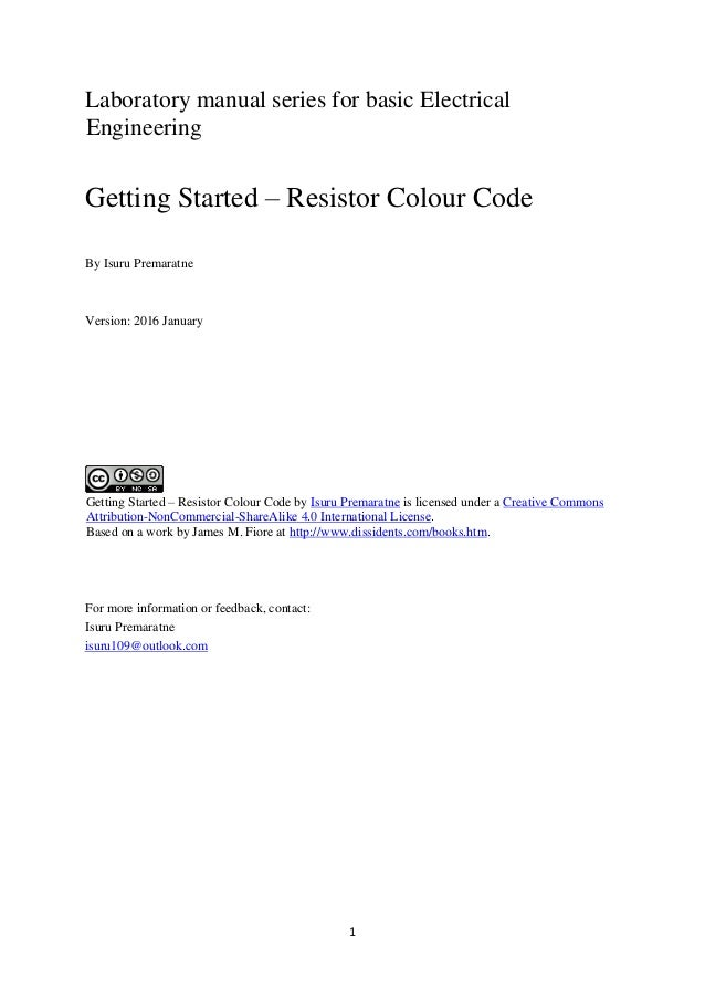 Getting Started – Resistor Colour Code