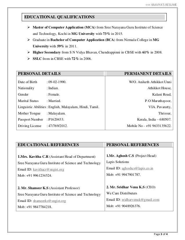kaavya u0026 39 s resume