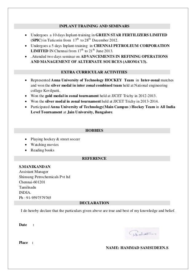 hammad resume