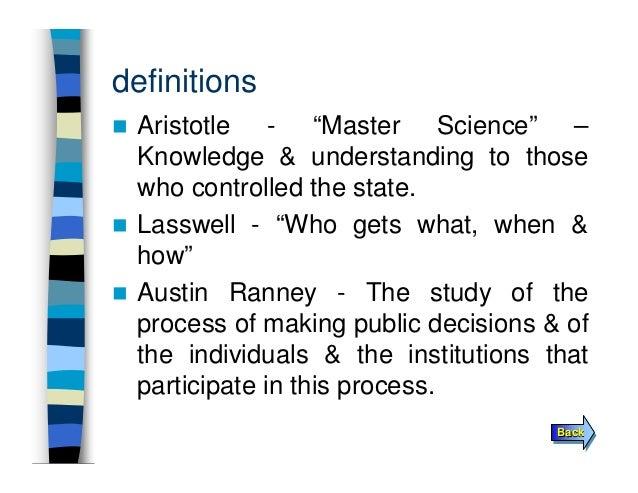 aristotle political science