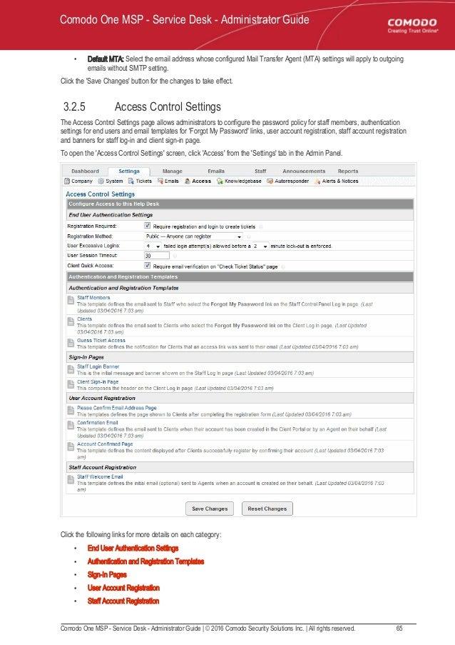 Comodo One It Help Desk Ticketing System