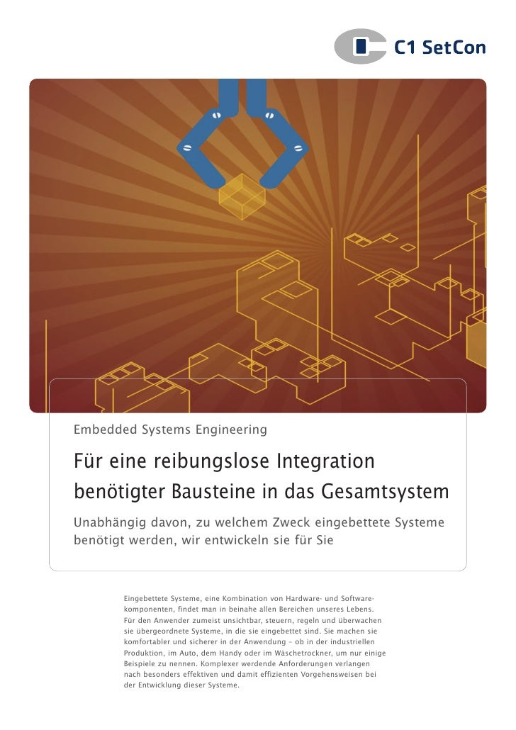 C1 SetCon Broschüre Embedded Systems Engineering
