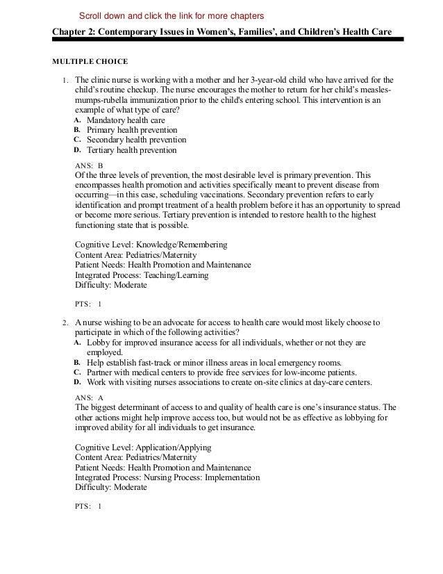 Maternity nursing school review questions