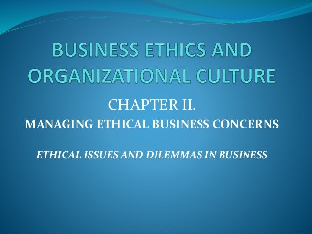 ethical situations in business Top 9 ethical issues in artificial intelligence  some ethical questions are about mitigating suffering, some about risking negative outcomes while we consider.