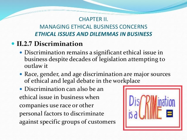 Ethical Discrimination in the Workplace