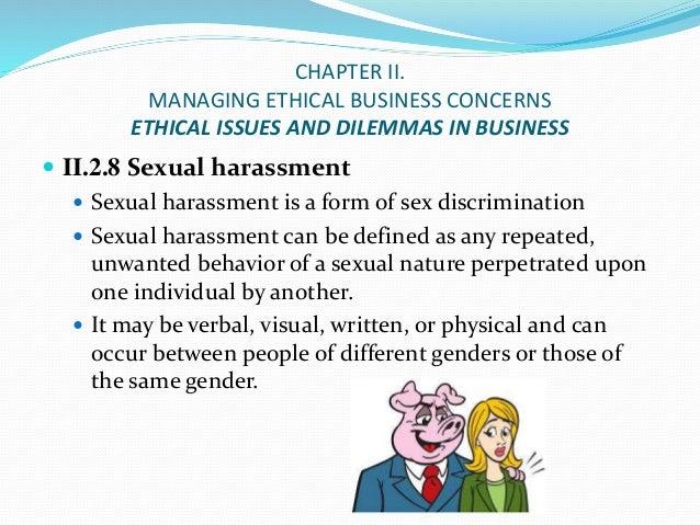 Ethics of sexual discrimination