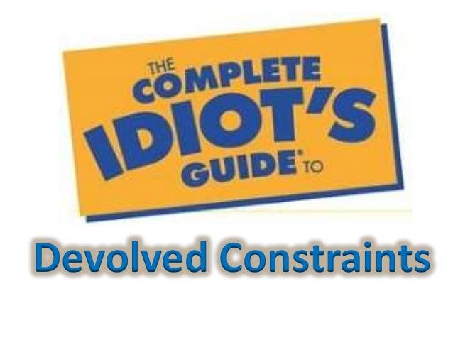 Devolved Constraints