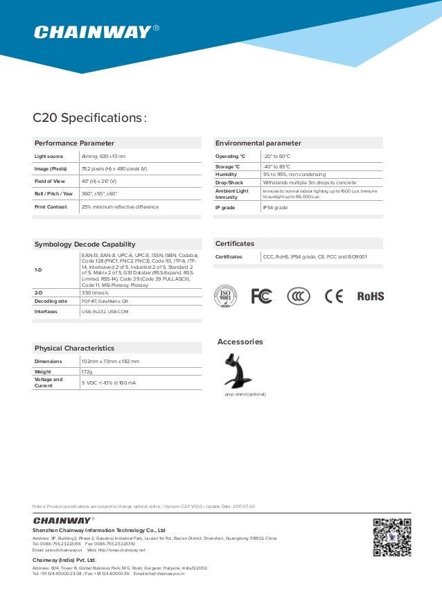 Chainway C20 Barcode Scanner
