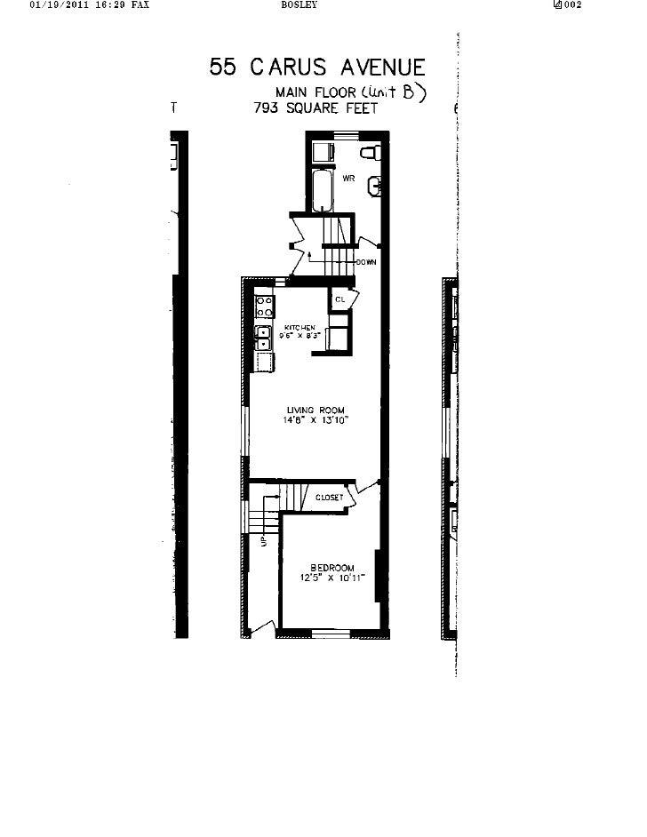 55 Carus Avenue B, Toronto Floor Plan