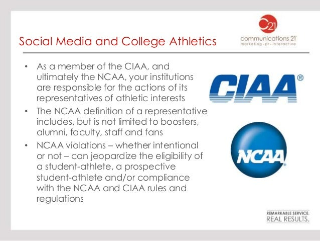Social media and student athletes