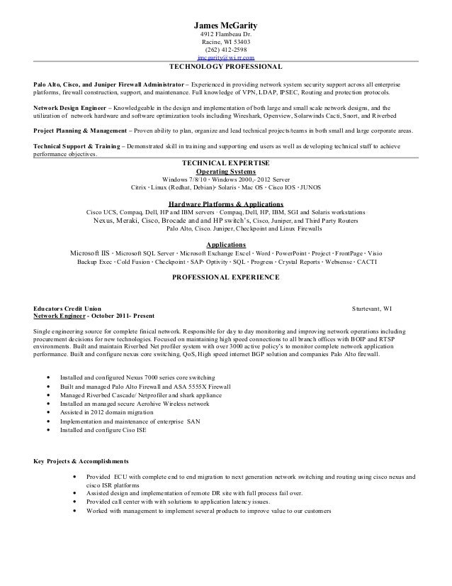 Juniper Sample Resume