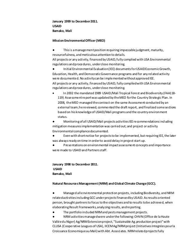 Usaid resume