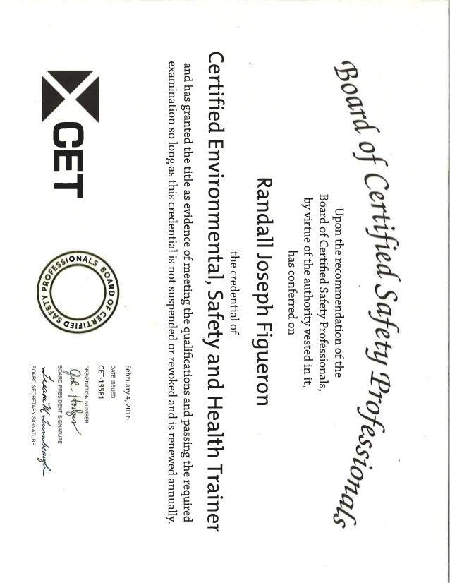 CET Certification