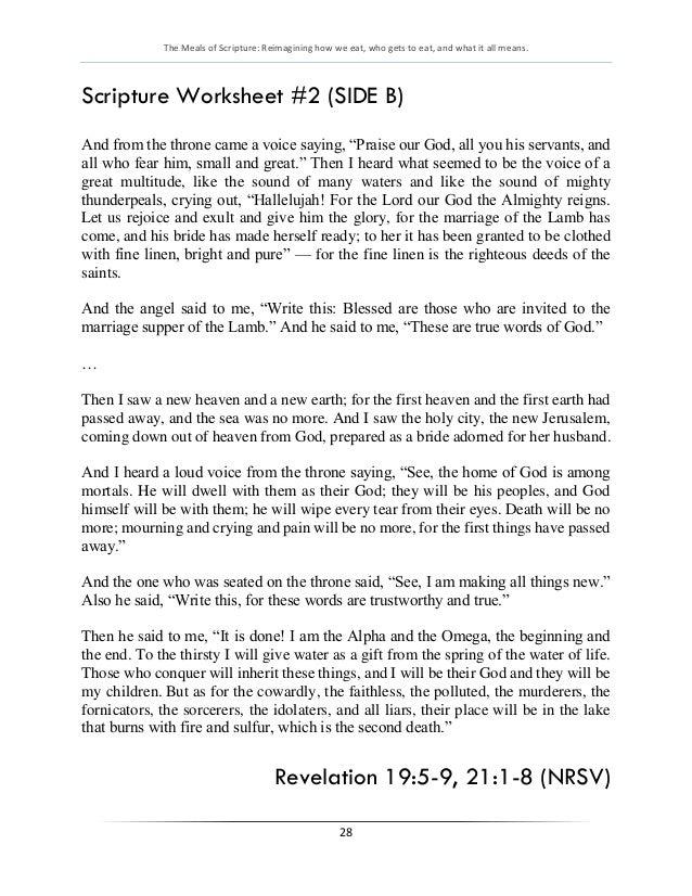 Meals of Scripture