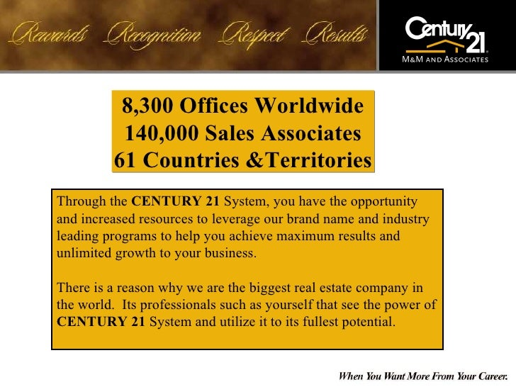 Century 21 M M Real Estate Agent Recruiting Presentation Slide 2