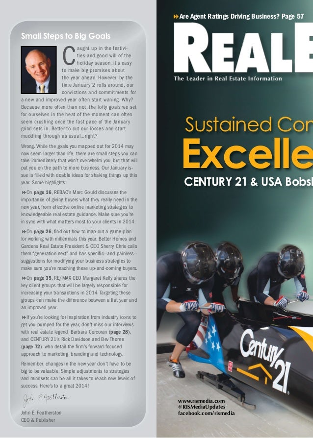 8Are Agent Ratings Driving Business? Page 57  Small Steps to Big Goals  C  aught up in the festivities and good will of th...