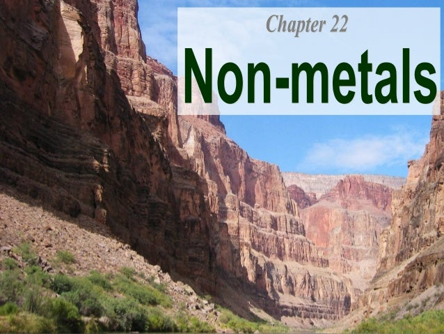 Chapter 22: Non-metals