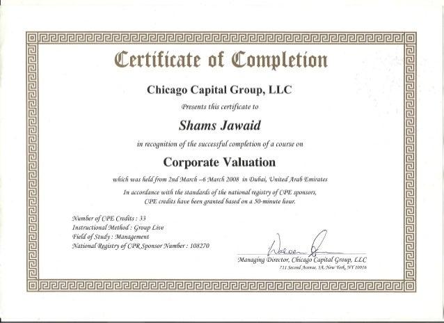Certified Corporate Valuator