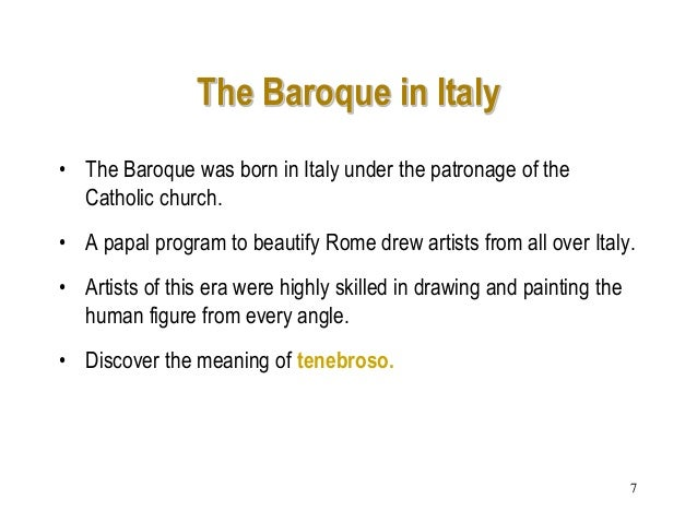 the baroque in italy and spain essay What is the spanish golden age history essay print reference this   baroque, which was a style  velázquez alternated between living in italy and spain.
