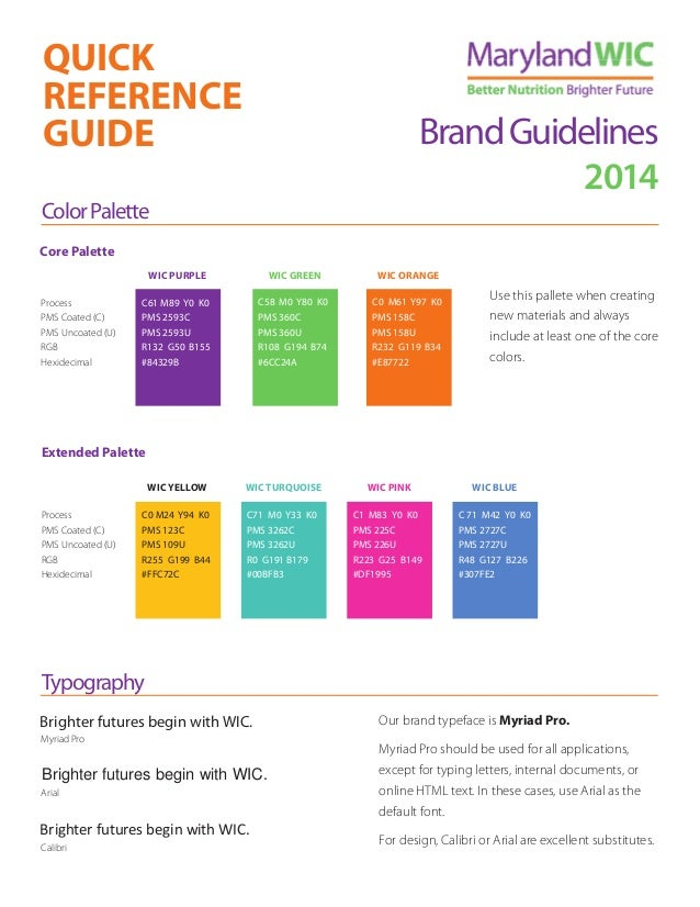 Maryland WIC Brand Guidelines
