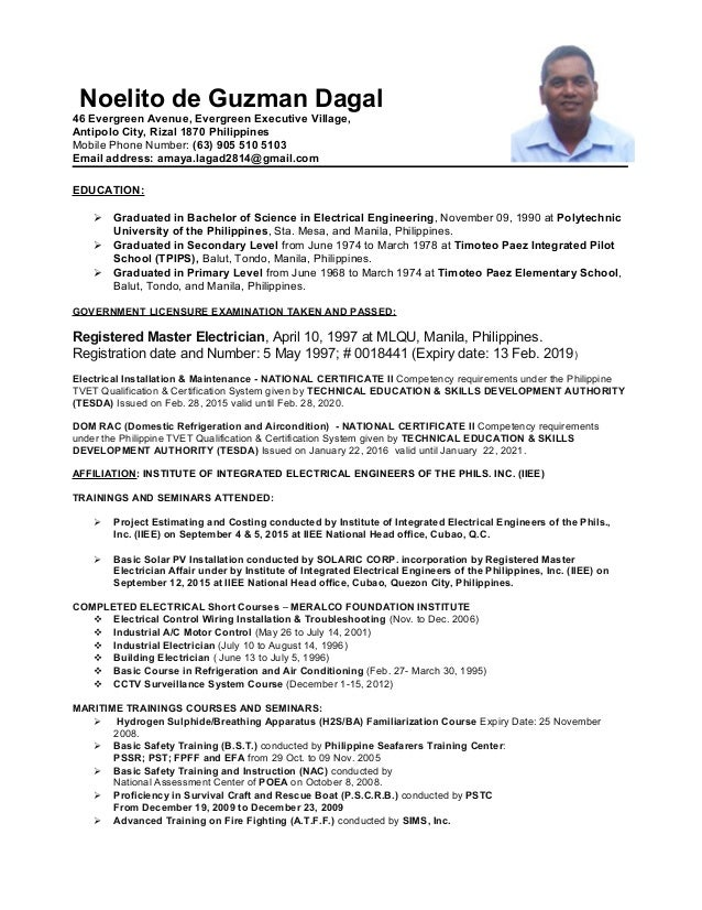 Noel S Solar 2017 Updated Resume Word 97