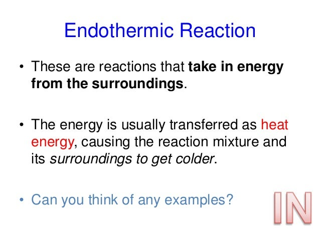 C2.5 exothermic and endothermic reactions