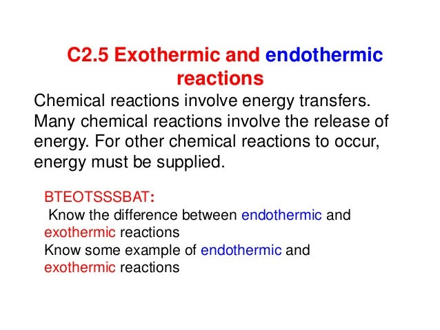 C25 Exothermic And Endothermic Reactions