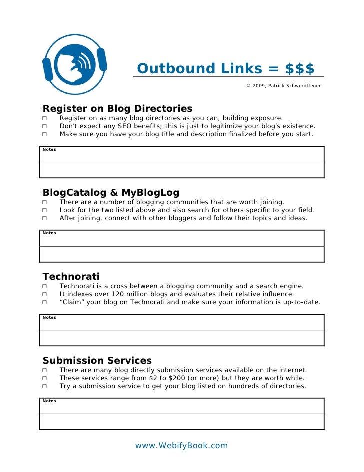 Outbound Links = $$$                                                                   © 2009, Patrick Schwerdtfeger     R...