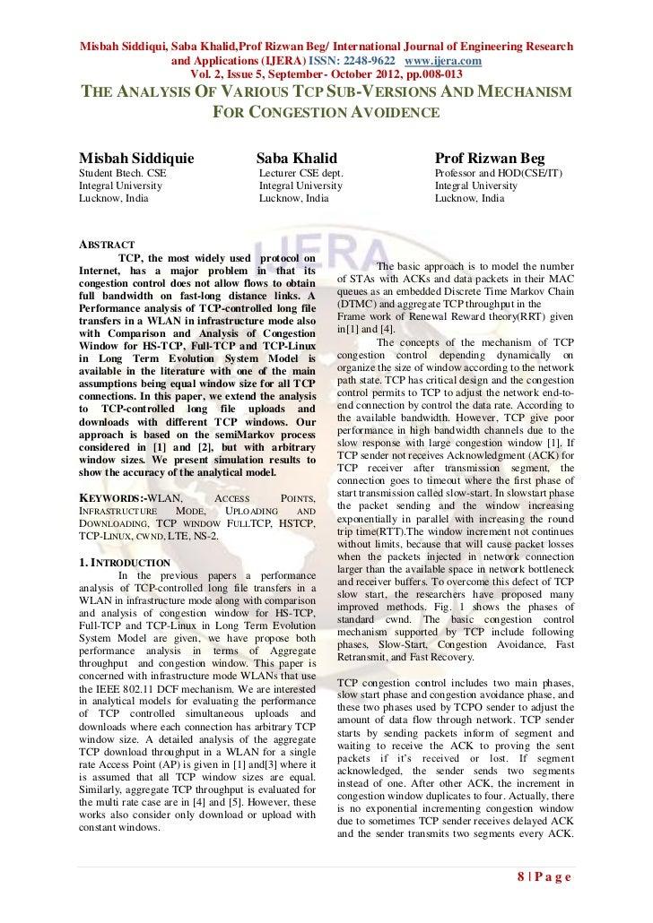 Misbah Siddiqui, Saba Khalid,Prof Rizwan Beg/ International Journal of Engineering Research                 and Applicatio...