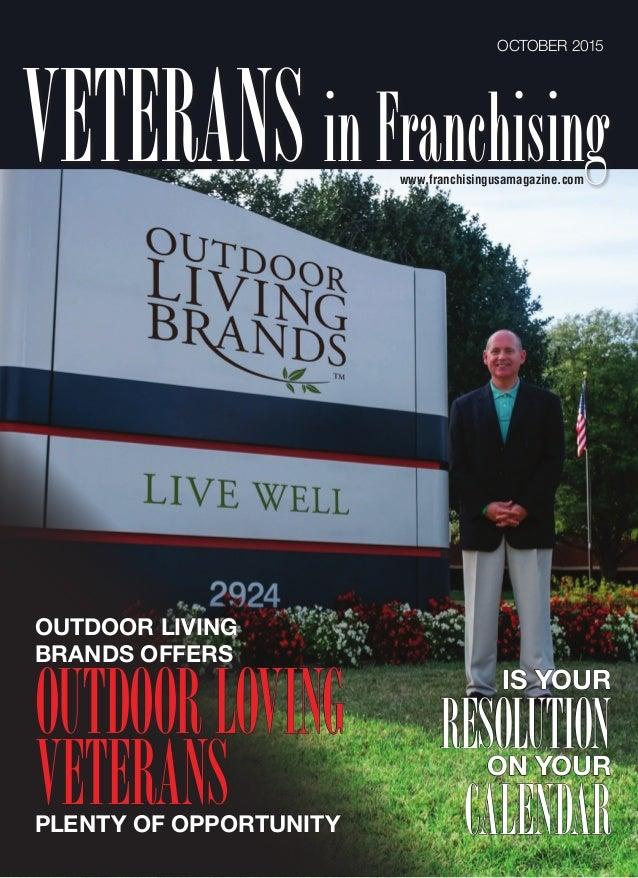 Outdoor Living Brands : 2015-10 Franchising USA - Outdoor Living Brands Article