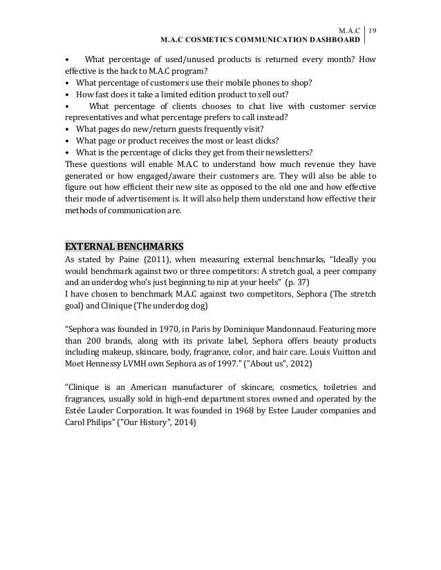 MAC COSMETICS COMMUNICATION DASHBOARD