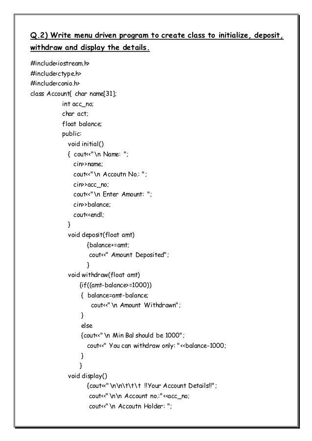 C++ 25 programs Class XII