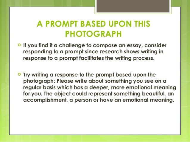 prompts for component essay The essay prompt the prompt (question) shown below, or a nearly identical one, is used every time the sat is given as you read the passage below, consider how [the author] uses evidence, such as facts or examples, to support claims.