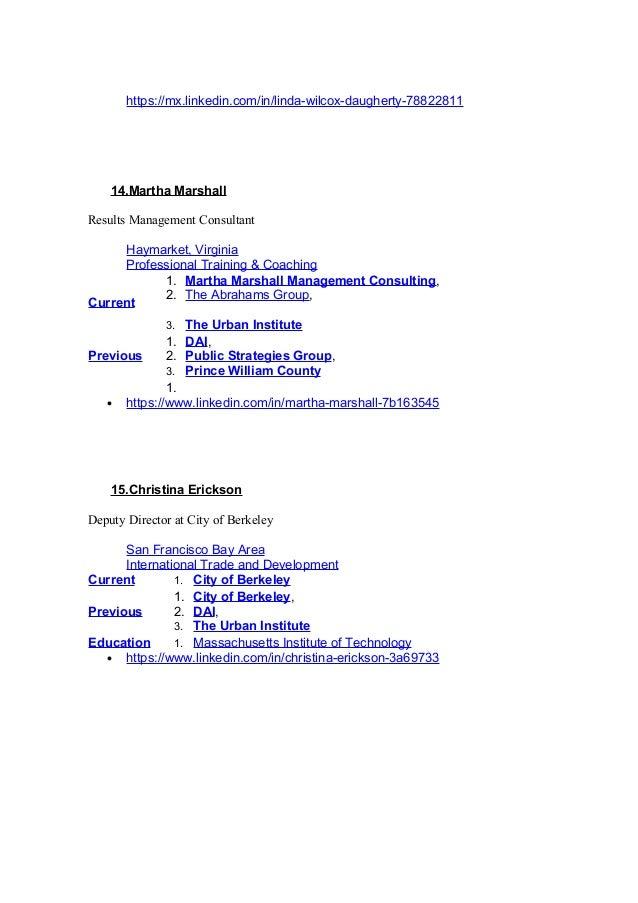 https://mx.linkedin.com/in/linda-wilcox-daugherty-78822811 14.Martha Marshall Results Management Consultant Haymarket, Vir...