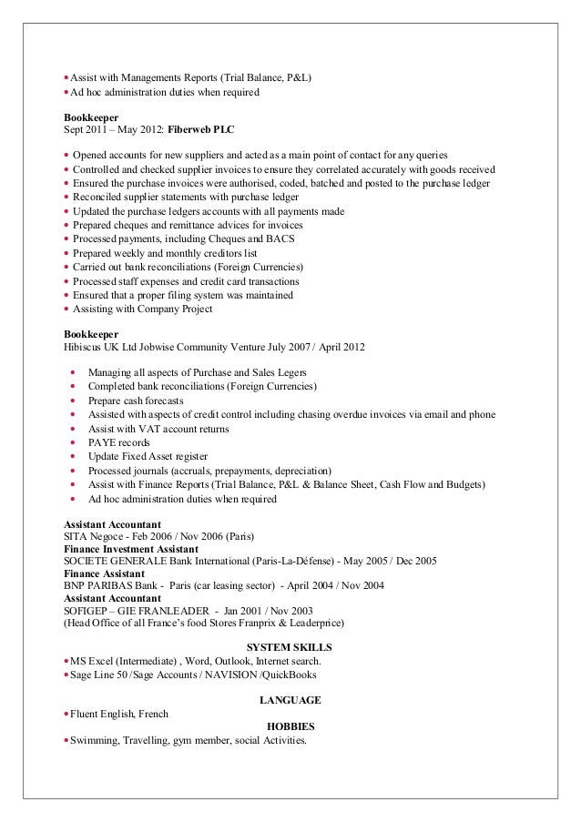 Beautiful London Accountancy Resume Ideas - Best Resume Examples and ...