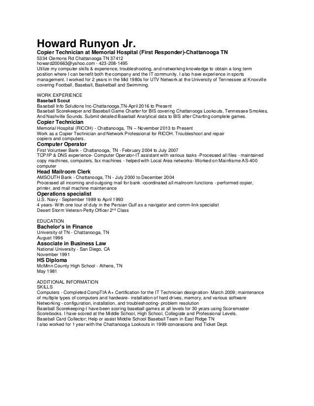 baseball resume
