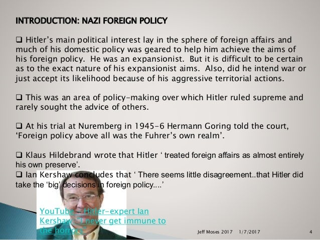 hitlers domestic policies A memo outlining adolf hitler's political goals domestic policy complete reversal of the present domestic political situation in germany.