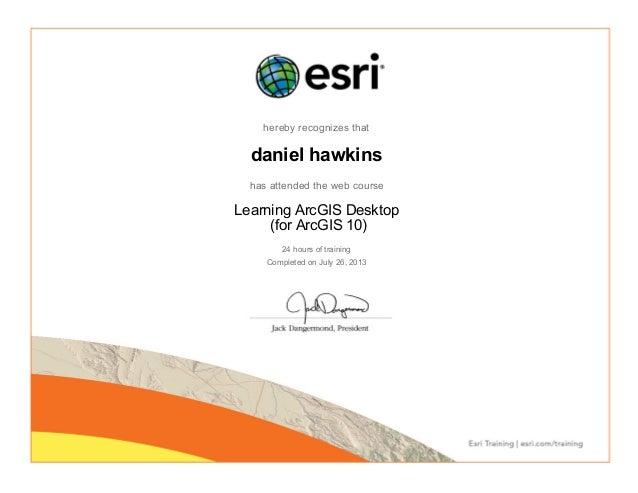 Esri Gis Certificate