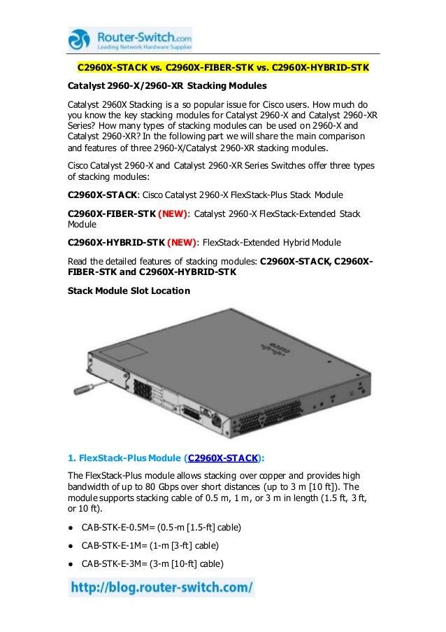 C2960 x stack vs  c2960x-fiber-stk vs  c2960x-hybrid-stk