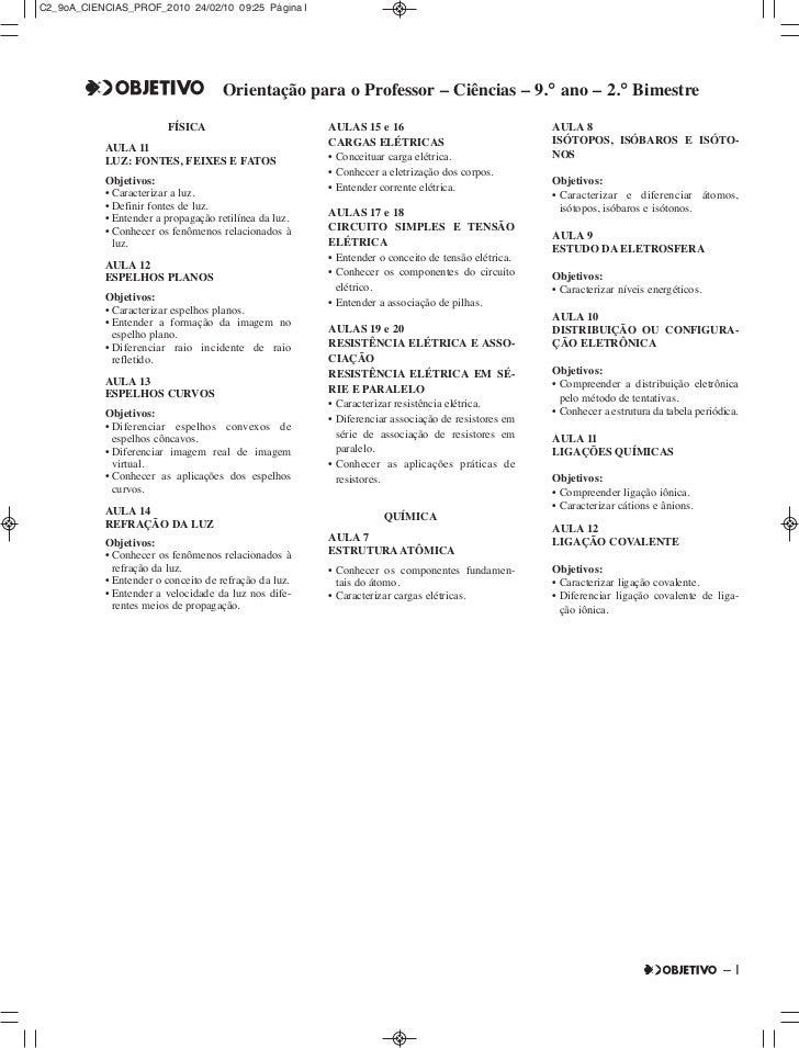 C2_9oA_CIENCIAS_PROF_2010 24/02/10 09:25 Página I                                    Orientação para o Professor – Ciência...