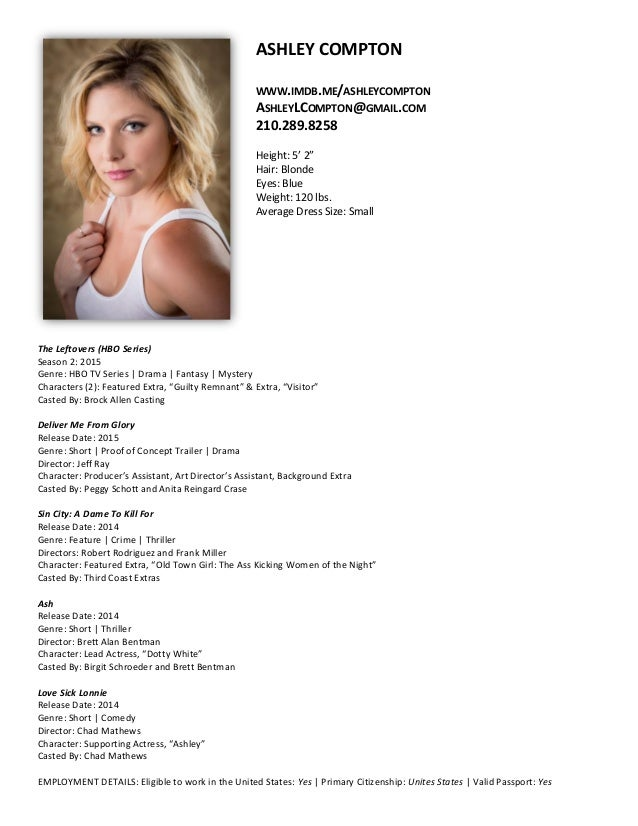 ashley compton actress resume