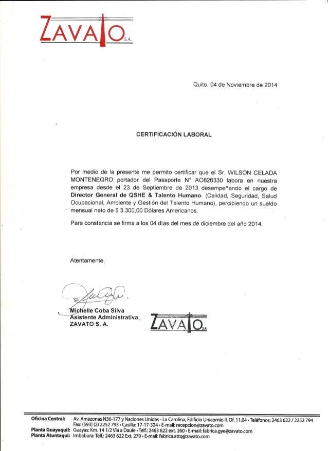 Certificado Laboral Zavato S. A.0001